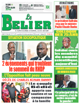Couverture du Journal LE BELIER N° 300 du 14/10/2021