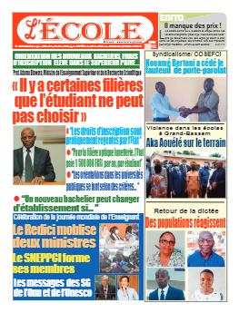 Couverture du Journal L'Ecole N° 49 du 11/10/2021