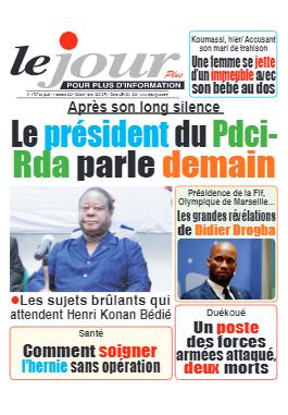 Couverture du Journal LE JOUR PLUS N° 4707 du 14/10/2021