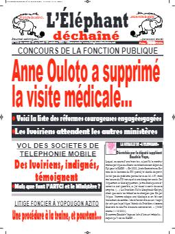 Couverture du Journal L'ÉLÉPHANT DÉCHAINÉ N° 721 du 12/10/2021