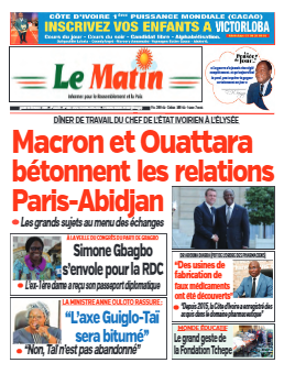 Couverture du Journal LE MATIN N° 662 du 14/10/2021