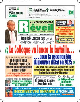 Couverture du Journal LE NOUVEAU RÉVEIL N° 5886 du 14/10/2021