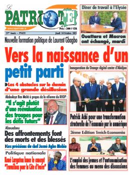 Couverture du Journal LE PATRIOTE N° 6533 du 14/10/2021