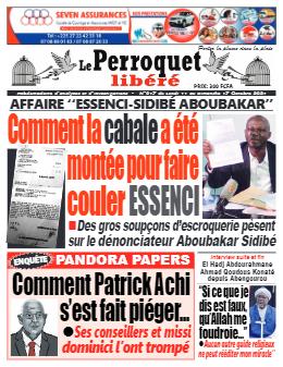 Couverture du Journal LE PERROQUET LIBERE N° 17 du 11/10/2021