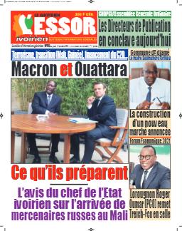 Couverture du Journal L'ESSOR IVOIRIEN N° 705 du 14/10/2021