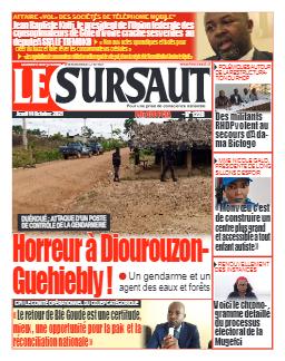 Couverture du Journal LE SURSAUT N° 1228 du 14/10/2021