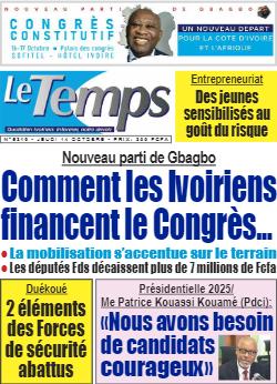 Couverture du Journal LE TEMPS N° 5322 du 14/10/2021