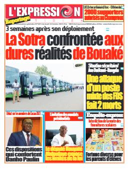 Couverture du Journal L'EXPRESSION N° 3425 du 14/10/2021