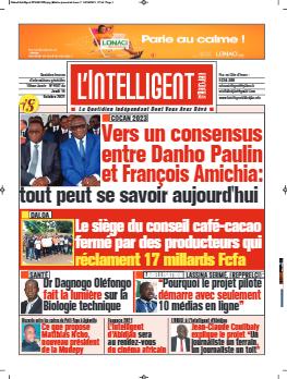 Couverture du Journal L'INTELLIGENT D'ABIDJAN N° 4903 du 14/10/2021