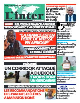 Couverture du Journal L'INTER N° 6981 du 14/10/2021