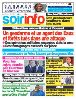 Couverture du Journal SOIR INFO N° 8093 du 14/10/2021