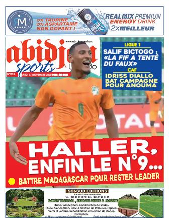 Couverture du Journal Abidjan Sports N° 24 du 17/11/2020