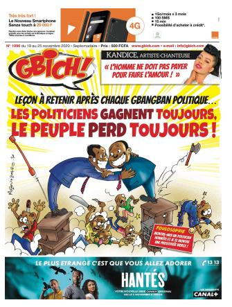 Couverture du Journal GBICH N° 1096 du 20/11/2020