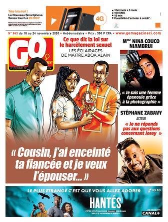 Couverture du Journal GO MAGAZINE N° 843 du 19/11/2020