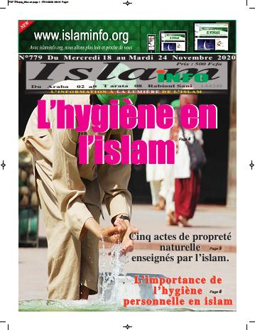 Couverture du Journal ISLAM INFO N° 779 du 18/11/2020