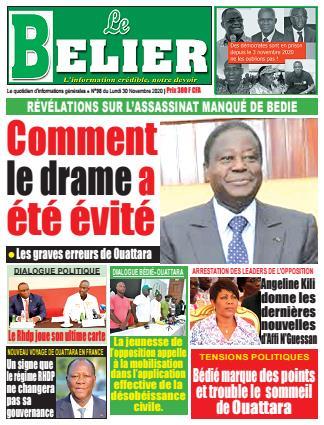 Couverture du Journal LE BELIER N° 98 du 30/11/2020