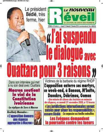 Couverture du Journal LE NOUVEAU RÉVEIL N° 5620 du 21/11/2020