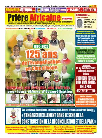 Couverture du Journal PRIERE AFRICAINE N° 192 du 21/11/2020